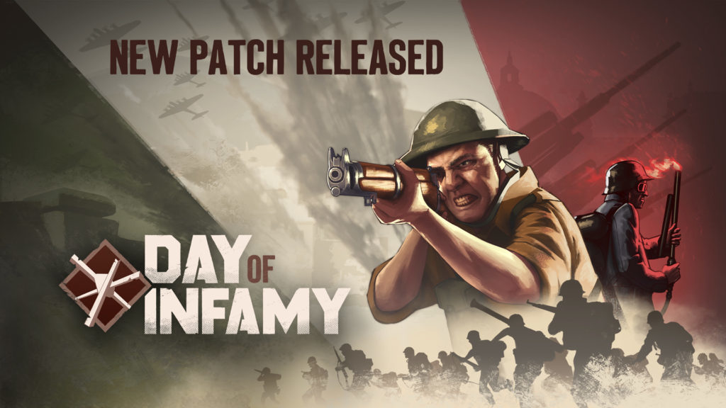 Day of Infamy Update August 26th | New World Interactive